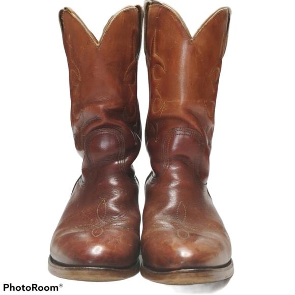 Vintage Leather Western Cowboy Boots Brazil Men's